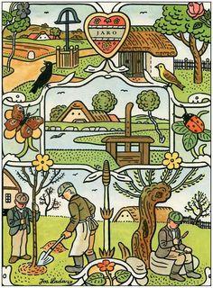 Czech Republic, Illustrators, The Past, Comics, Learning, Retro, Pictures, Poster, Art
