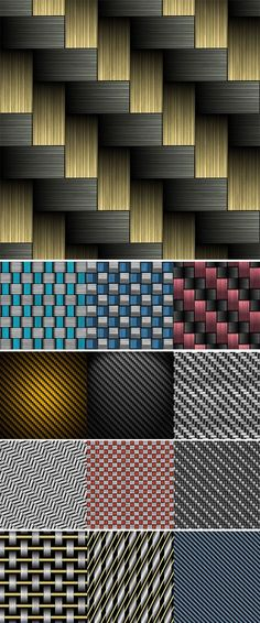 Carbon fiber wowen texture Stock Images