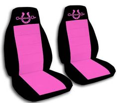 C@@L SET COWGIRL UP CAR SEAT COVERS 9 COLORS CHOOSE