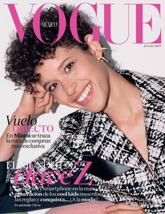 Cover with Janiece Dilone July 2017 of MX based magazine Vogue Mexico from Condé Nast Publications including details. Vogue Magazine Covers, Vogue Covers, Greg Kadel, Michael Thompson, Selma Hayek, Lindsay Ellingson, Catherine Mcneil, Carolyn Murphy, Jessica Stam