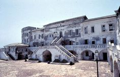 Cape Coast Castle, Inner Courtyard, Ghana (slaves were kept here before going to the New World)