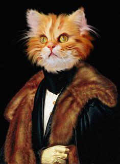 Portrait Renaissance, Renaissance Art, Jolie Photo, Baby Cats, Dog Art, Pet Portraits, Cat Lovers, Pets, Animals