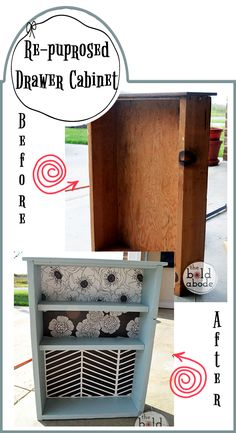 Repurpose a Vintage Drawer and turn it into to much needed Bathroom Storage!