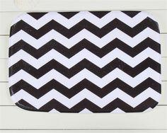 40 x 60 cm preto branco de impressão tapete retangular sala de jantar cozinha anti-derrapante tapete de porta tapete tappeti
