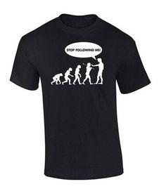Evolution shirt Stop Following Me Caveman Men's Funny T Shirt Custom Mens Brand Short Sleeve O-Neck Shirt 100% Cotton T-Shirt #HespiridesGifts #amazing #beautiful #best #bestoftheday