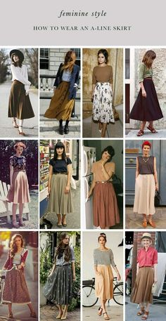 An A-Line skirt can be worn from day to night, it's a matter on how you style it  Here are some ideas and tips