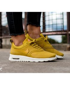 Nike Air Max Thea Premium Dark Citron Clearance Nike Thea, Air Max Thea,  Shoes 6fe35ddc6e