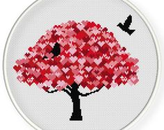 INSTANT DOWNLOAD,Free shippingCounted Cross-Stitch PDF,Love birds,valentine's day, wedding,zxxc0649