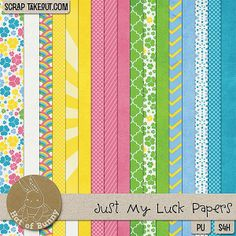 Just My Luck paper pack freebie from Hat of Bunny