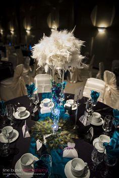 Peacock Paradise :  wedding blue bouquet bridesmaids diy flowers green inspiration peacock wedding purple reception teal theme tine butler wedding TB1 9444