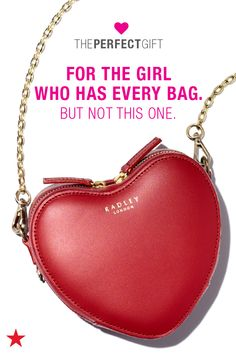Looking for a Valentine's Day present? Search no further! Spread the love with something from Macy's. If she has a handbag obsession, this heart-shaped crossbody purse from Radley London is the perfect gift. Head to macys.com now to shop Valentine's Day gifts!