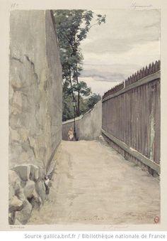 Une rue de Paris - Montmartre : 18è Clignancourt : [dessin] / [Auguste Louis Marie Ottin] - 1