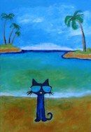 Pete the Cat - Blue Lagoon 1 Why Do Cats Purr, Cats And Kittens, Cats Bus, Cat Character, Cat Paws, Cat Drawing, Crazy Cats, Cool Cats, Painted Rocks