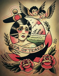 A sea of tears. Traditional and old school flash by Quyen Dinh