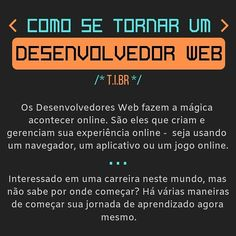 A imagem pode conter: texto Desenvolvedor Web, Evolution, 1, Instagram, Online Games, Apps, Step By Step