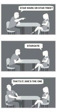 Speed dating memes & gifs - imgflip Dating Games, Dating Humor, Stargate Atlantis, Dave Matthews, Speed Dating, Nerdy, Haha, Arrow, Hilarious