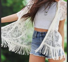 Lacy spring outfit