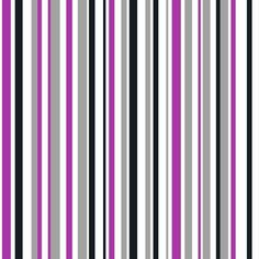 Arthouse Super Stripe Wallpaper - Black, Pink
