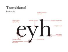 transitional typography characteristics - Google Search