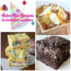 Hello summer and hello cake mix recipes! Recipes with cake mix are the BEST.