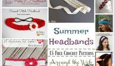 AWW ~ Crochet Summer Headbands