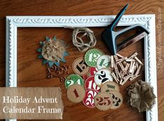 Holiday Advent Calendar Frame – #Craft with #ArrowFastener