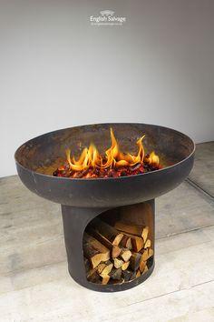 Blacksmith Made Kadai / Fire Bowl. #englishsalvage #homerenovation #finditstyleit #homestyle #decor #designer #vintage #antique #reclamation #filmprops #productiondesigner #setdesigner #forsale #unique #rare #architecturalantiques #retro #decordesign #restoration #vintageshop #dmforprice #vintagefinds #reclaimedvintage #reclaimed #repurpose #salvage #1stdibs #interiorideas