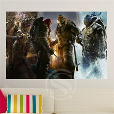 Custom Teenage mutant ninja turtles Home Decor Creative Art Poster Print Wall Sticker FREE SHIPPING 40x60cm SQ00610-H001