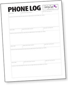 Keep track of the information exchanged while you are on the phone. Download this FREE printable phone log.
