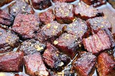 My favorite piece of meat to eat in the entire world. That is what burnt ends have become for me. Burnt Ends are born from the point of a brisket. Not the brisket flats Traeger Recipes, Grilling Recipes, Meat Recipes, Brisket Flat, Smoked Brisket, Bbq Brisket, Smoked Beef, Barbacoa, Barbecue