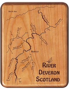 River Deveron Scotland River Map Fly Box - At Stonefly Studio we are not limited to U.S. rivers.  This looked like a beautiful place to fish!