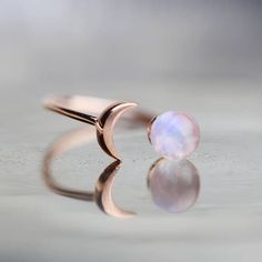 Rose Gold Ring Rainbow Moonstone Ring For Best Friend Girlfriend Gift Crescent Moon Ring Celestial Jewelry Inspirational Wife Birthday Gift #ring #rainbow #giftideas #moon #moonring #loveyoutothemoonandback #gift #giftforher #inspire #inspirational #rosegold #giftforher #affiliate