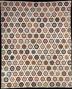 Barbara Brackman's MATERIAL CULTURE: Quilt date-inscribed 1861 by Mary Anne Jefferson Healy in the collection of the Smithsonian