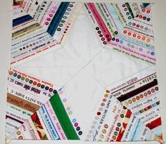 Photo of star-shaped string quilt block