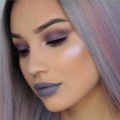 """Aurora #GlowKit @byjeannine BROWS: #Dipbrow Medium Brown EYES: #abhshadows in buon fresco and violet, """"clover"""" liquid lipstick as a liner GLOW: Aurora #GlowKit in """"Spectra"""" (also on the lid) and """"Luna"""" LIPS: """"Clover"""" liquid lipstick #anastasiabeverlyhills #auroraglowkit"""