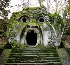 """ah you still don't know near Roma Bomarzo garden of wonders by Prince Orsini, here one of the major room sculpture, one may read """"ogni pensier vola"""" thoughts are flying...from my best times ever with Maud Molyneux aka Marc Raynal"""