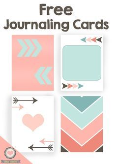 Free Journaling Cards for your Next Scrapbook Page