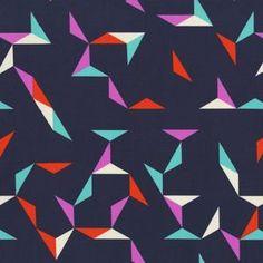 Rashida Coleman Hale - Moonlit - Tangrams in Indigo