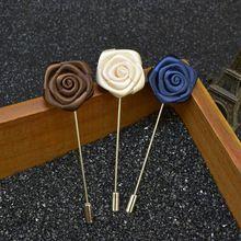 Fashion Flowers Men's Suit Formal Brooch Pins Bouquet Gentlemen Wedding Lapel Pins Prom Uxedo Corsage Boutonniere(China (Mainland))