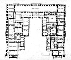 J.H.Mansart; Versailles, Chateau, 1679, Plan Of First Floor; Palace  Remodelling