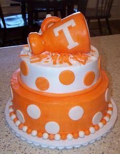 Cute Tennessee Cheer cake @Louise Jones, @Laurie Walker, and @Leigh Woodring