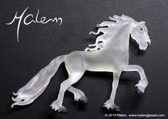 Equine Art by Malem Glass Artist Sculptures, Lion Sculpture, Equine Art, Glass Jewelry, Glass Art, Creatures, Horses, Statue, Artist