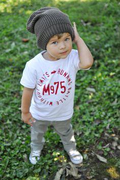 Little boy style even. love when little boys where man clothes :))