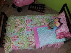 Minky Toddler Bedding - Girls 4 or Kumari Garden Bedding Set-Includes Comforter-Toddler Sheet Set--Made to Order Toddler Comforter, Toddler Girl Bedding Sets, Toddler Bed, Comforter Sets, Big Girl Bedrooms, Girls Bedroom, Toddler Sheet Set, Garden Bedroom, Bedding Sets Online