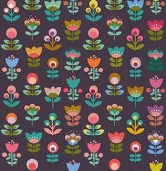 Des fleurs et des murs - Eliza Cope - Retro Pattern, Pattern Art, Vintage Pattern Design, Pretty Patterns, Flower Patterns, Pattern Flower, Beautiful Patterns, Stoff Design, Motif Floral