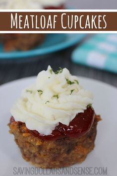 Make a double batch of Mini Meatloaf Cupcakes and stick half in the freezer for a quick and  easy dinner on a busy night!