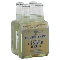 Fever-Tree Ginger Beer - 200ml four pack