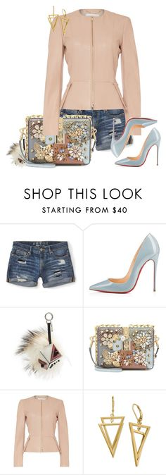 """""""Day Party Windy"""" by christenamelea on Polyvore featuring Aéropostale, Christian Louboutin, Fendi, Dolce&Gabbana, HUGO, women's clothing, women, female, woman and misses"""