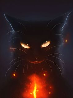 Heart's Blood... by Mizu-no-Akira on DeviantArt. I was attracted to this work for similar reason as another I posted previously; the stark contrast between the dark and light. The demonic and secretive nature of the feline, highlighted by the bright streak of red creates a sense of mystery. The eyes of the feline are additionally well done.: