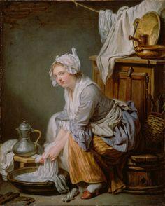 DIE WÄSCHERIN: Die Wäscherin von Jean Baptiste Greuze, Französisch, 1761 / The Laundress by Jean Baptiste Greuze, French, 1761